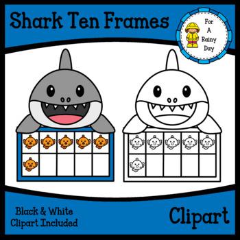 Shark Ten Frames Clipart