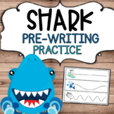 Shark Theme Pre-Writing Practice for Preschool