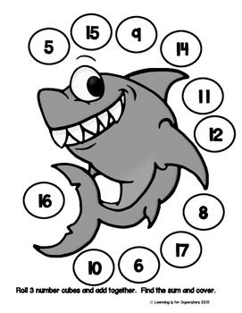 Shark! Themed Math Activities