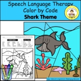 Shark Speech Therapy Color By Code Grab and Go Activity
