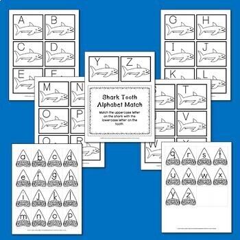 Shark Tooth Alphabet Matching Cards