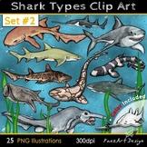 Shark Types Clip Art: #Two {PaezArtDesign}