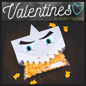 Shark Valentine Treat Topper