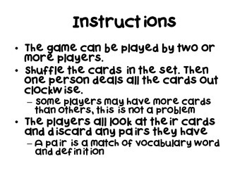 Shark! Vocabulary Card Review Game (Classification Edition)