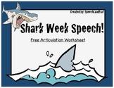 Shark Week Articulation Page - FREEBIE