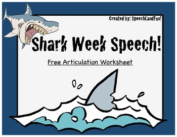 Shark Week Articulation Page - FREEBIE