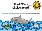 Shark Week Reading and Writing Response Choice Board