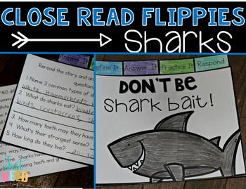 Shark Week: Close Read Flippy FREEBIE