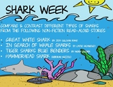 Shark Week-Reading Chart-Compare & Contrast 4 Non-Fiction Books - Summer School
