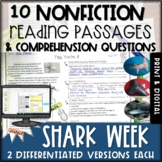 Shark Week Differentiated Nonfiction Passages and Questions