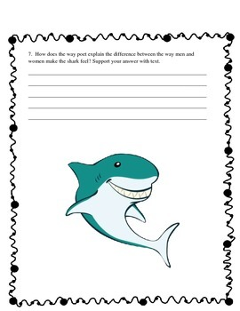 Shark Reading Comprehension - Poem