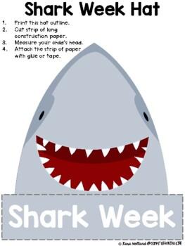 Shark Week Preschool - Kinder Activities