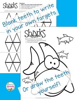 Shark Week Speech Therapy Craftivity