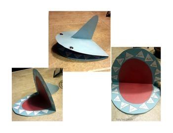 Shark Week in Speech Craftivity & Worksheet FREEBIE