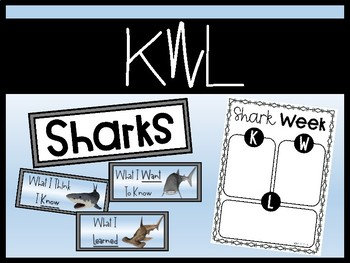 Shark Week {types of sharks, compare and contrast}