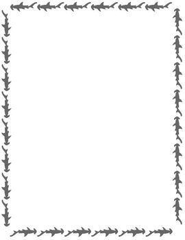 Shark Writing Paper Stationery