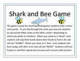 Shark and Bee Letter Game