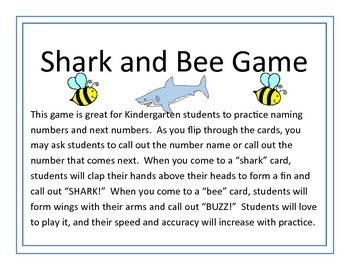 Shark and Bee Number Game