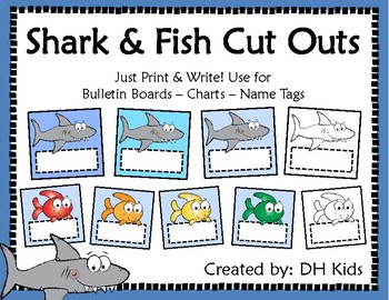 Shark and Fish Cut Outs
