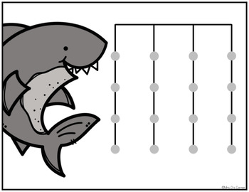 Shark and Fish Matching Mats and Activity Cards (Patterns, Colors, and Matching)