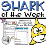 Shark of the Week Letter