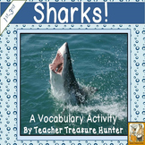 Shark vocabulary activityRead & Write the room ~ FREEBIE! 1st-3rd