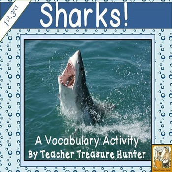 Shark vocabulary activityRead & Write the room ~ FREEBIE! 1st-3rd
