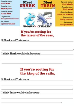 Shark vs Train Prediction Writing