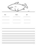 Shark writing paper