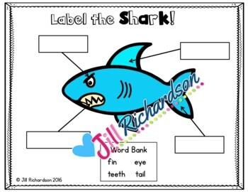 Ocean Animals - Sharks Writing Flap Books!