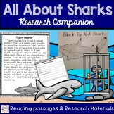 All About Sharks - Research and Reading Passages
