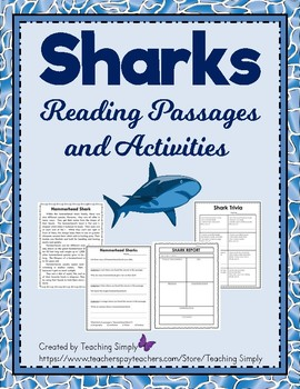 Sharks:  A science Mini-Unit; Reading, Research, Close Reading Passages