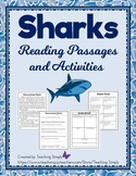 Sharks Reading Passages and Activities