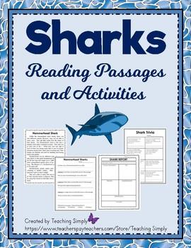 Sharks:  A science Mini-Unit; Reading, Research, Close Rea