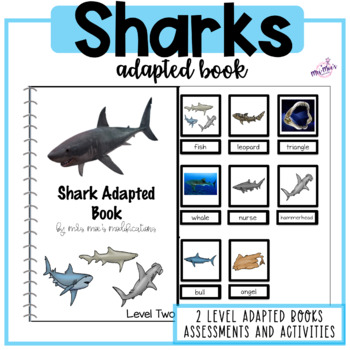 Sharks Adapted Reading Book- Perfect for Shark Week!