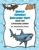 Sharks Alphabet Scavenger Hunt: Upper and Lowercase Letter