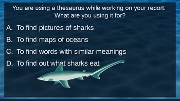 Sharks Away!  Research Review