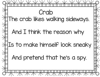 Sharks, Crabs, and Lobsters! (4 Pocket Chart Activities)