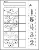 Sharks Cut & Match Worksheets   Numbers 1-5