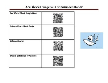 Sharks Research with QR codes
