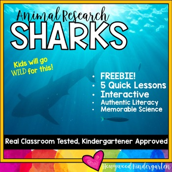 Sharks FREEBIE!  Zoo Animal Research Mixed w/ Authentic Literacy Practice!