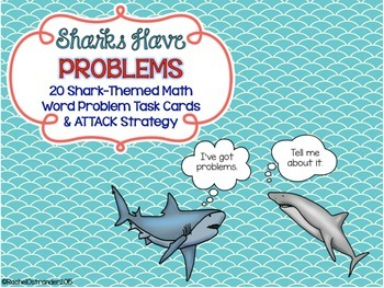 Sharks Have Problems - Shark Themed Word Problem Task Cards