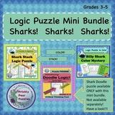 Sharks!  Mini Bundle!  Logic Puzzles.  Includes Cool FREEBIE!