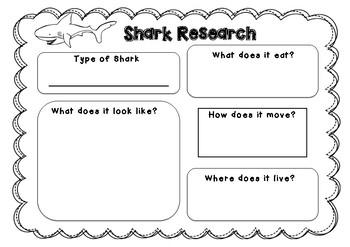 Sharks Mini Writing Unit