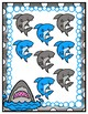 Sharks & Minnows Sums File Folder Game Single Digit Addition to 18
