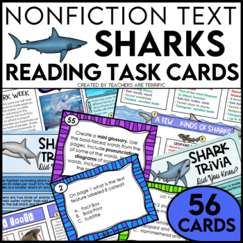 Sharks Non-Fiction Text Features and Task Cards