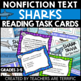 Sharks Task Cards Nonfiction Reading Task Cards