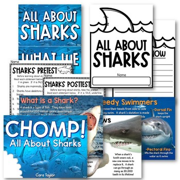 Sharks - Nonfiction Shark Week Unit for Young Learners