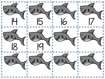 Shark Math Numbers Before and After