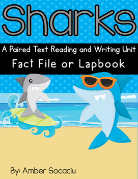 Sharks and Clark the Shark Paired Text Lapbook
